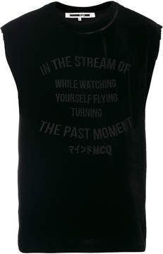 McQ embroidered tank top