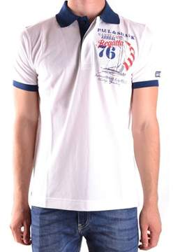 Paul & Shark Men's White Cotton Polo Shirt.