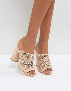 New Look Embellished Heeled Mule Sandals