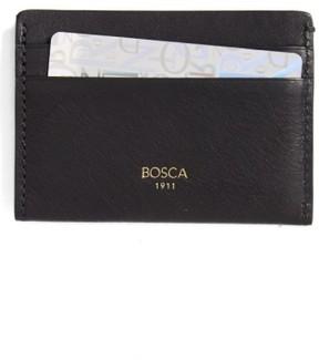 Bosca Men's Leather Card Case - Black