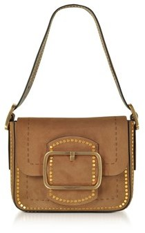Tory Burch Women's Brown Suede Shoulder Bag. - BROWN - STYLE