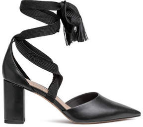 H&M Court shoes with ties - Black