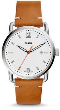Fossil The Commuter Three-Hand Date Light Brown Leather Watch