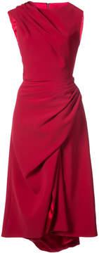 Christian Siriano asymmetric gather detail dress