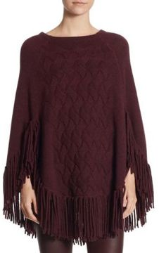 Akris punto Wool & Camel Hair Poncho