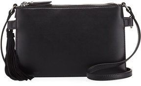 French Connection Reese Trio Tassel Crossbody Bag, Black