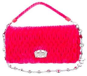 Miu Miu Embellished Velvet Matelassé Bag