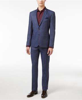Nick Graham Men's Slim Fit Stretch Blue Denim Suit