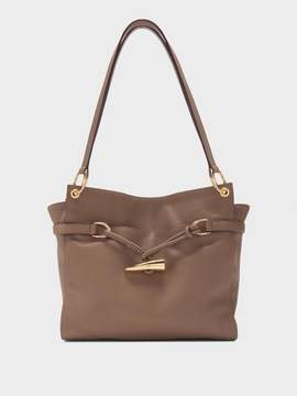 DKNY Cindy Pebbled Leather East-West Tote With Horn Detail