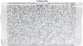 Edie Parker Lara Silver Confetti Clutch
