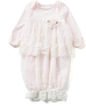 Edgehill Collection Baby Girls Newborn-6 Months Lace Gown