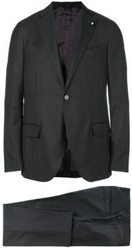 Lardini striped three piece suit