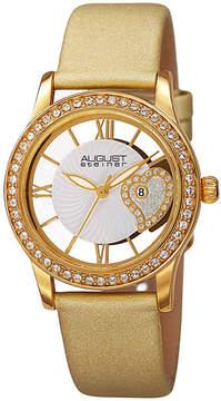 August Steiner Womens Gold Tone Strap Watch-As-8176yg