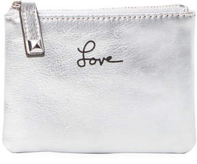 Rebecca Minkoff Women's Metallic Leather Pouch - SILVER - STYLE