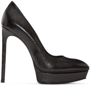 Saint Laurent Black Platform Janis Heels