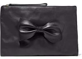 RED Valentino Bow-Detailed Leather Clutch
