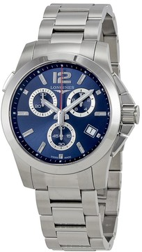 Longines Conquest Blue Dial Automatic Men's Chronograph Watch