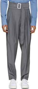 Kenzo Grey 80s High-Waist Trousers
