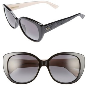 Christian Dior Women's Lady 55Mm Cat Eye Sunglasses - Black