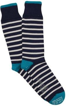 Corgi Breton Stripe Sock in Navy