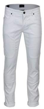 Jeckerson Men's White Cotton Pants.