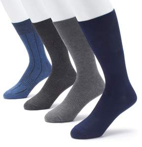 Croft & Barrow Men's 4-pack Opticool Textured Dress Crew Socks