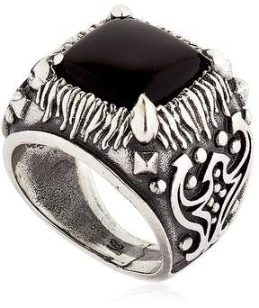 Emanuele Bicocchi Onyx & Sterling Silver Square Ring