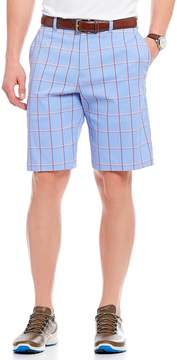 Callaway Stretch Herringbone Flat-Front Active Waistband Shorts