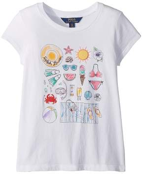 Polo Ralph Lauren Cotton Jersey Graphic T-Shirt Girl's T Shirt