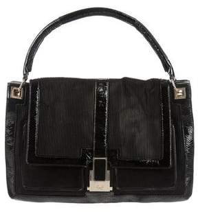 Anya Hindmarch Leather-Trimmed Shoulder Bag