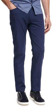 Ermenegildo Zegna New Pique Five-Pocket Pants, Navy