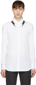 Neil Barrett White Thunderbolt Shirt
