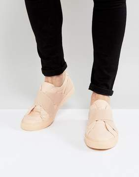 Asos Sneakers In Pink With Elastic Straps