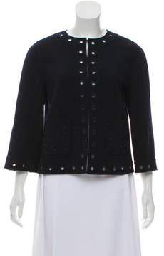 Andrew Gn Wool Collarless Jacket