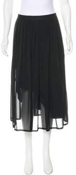 Cacharel Pleated Midi Skirt