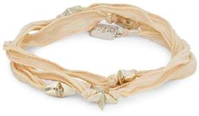 King Baby Studio Men's Star Beaded Wrap Bracelet