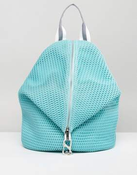Asos Lifestyle Mesh Dogclip Backpack With Webbing Straps