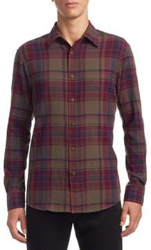 Ralph Lauren Crinkle Plaid Casual Button-Down Shirt