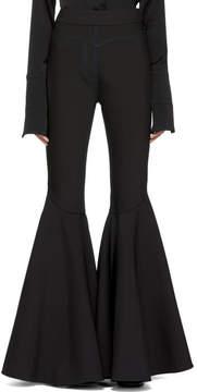 Ellery Black The Wild Wild Full Flare Trousers
