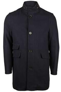 Kenneth Cole Mens Wool Blend Coat In Denim.