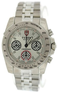 Tudor Sport Chronograph 20300 Silver Dial Stainless Steel 41mm Mens Watch