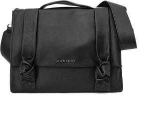 Orciani Small Black Leather Bella Bag.