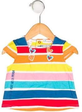 Agatha Ruiz De La Prada Girls' Striped Button-Accented Top w/ Tags