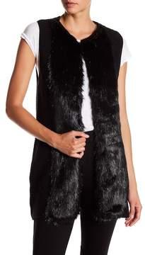 Ella Moss Faux Fur Detail Knit Vest