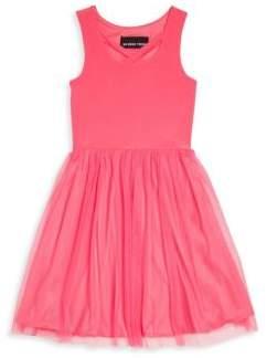 Un Deux Trois Girl's V-Neck Sleeveless Dress