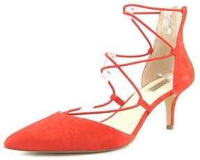INC International Concepts Dare Women Open-toe Leather Red Heels.