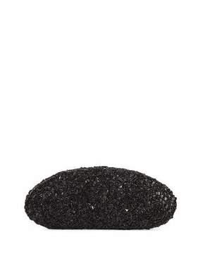 VBH Oval Crystal Compact Clutch Bag, Black