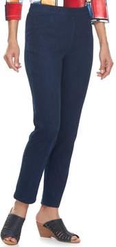 Alfred Dunner Women's Studio Pull-On Straight Leg Jeans