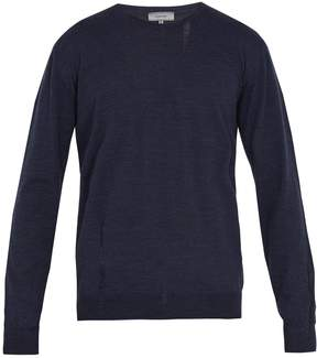 Lanvin Distressed crew-neck wool sweater