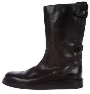 Ann Demeulemeester Leather Round-Toe Boots